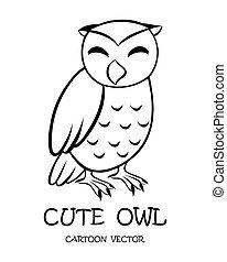 Vector of cute owl eps 10.
