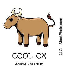 Vector of cute ox eps 10.