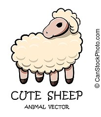 Vector of cute sheep eps 10.