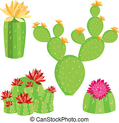 vector of different cactus