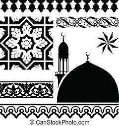 Islamic pattern - Vector of different Islamic pattern on...