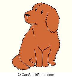 vector of dog, golden retriever