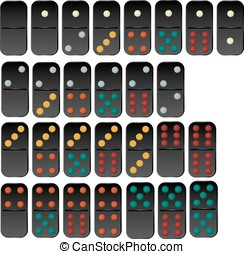 Vector of domino set