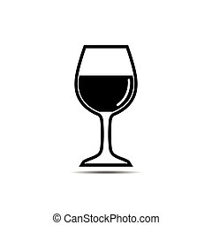 vector of drinking glass