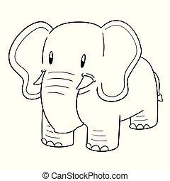 vector of elephant