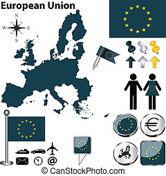 European Union - Vector of European Union with 27 members