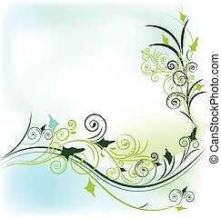 Vector of floral background