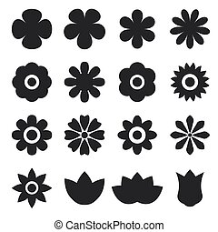 vector of flower icon set