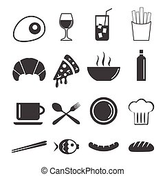 vector of food icons