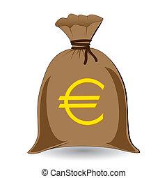vector of full money sack of euros