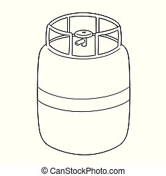 vector of gas tank