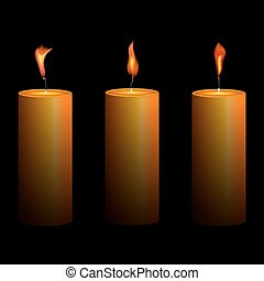 Vector of glowing candles