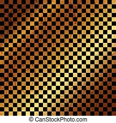 Vector of gold background with black cubes