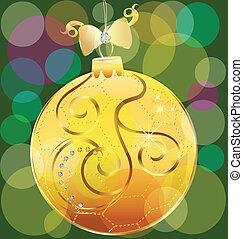 Vector of gold christmas ball