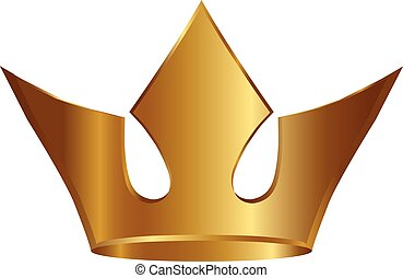 Vector of gold crown
