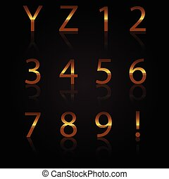 Vector of gold numbers