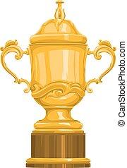 Vector of gold trophy.