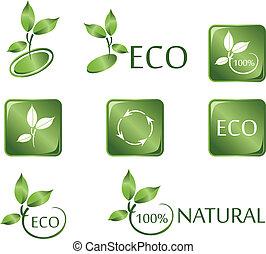 Green ECO icons