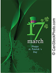 Vector of green hats and shamrocks for St. Patrick's Day. ...