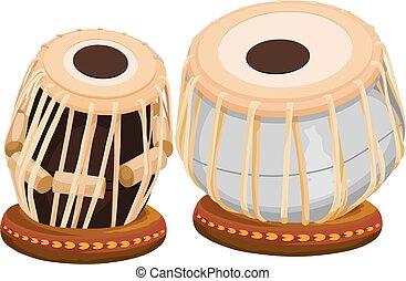 Vector of hand drum.