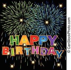 Vector of Happy Birthday design