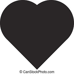 Vector of hart icon on white background