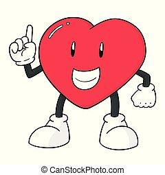 vector of heart cartoon