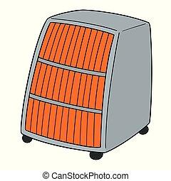 vector of heater
