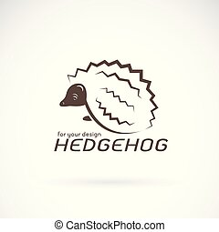 Vector of hedgehog design on white background. Wild Animals. hedgehog logo or icon. Easy editable layered vector illustration.