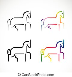 Vector of horse design on a white background