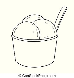 vector of ice cream