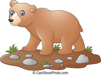 Cute baby bear cartoon