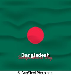 Vector of Independence Day with Bangladesh Flags.