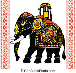 Indian elephant - Vector of Indian elephant