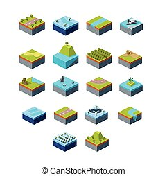 Vector of Isometric Landscape