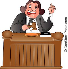 Vector of judge with gavel.