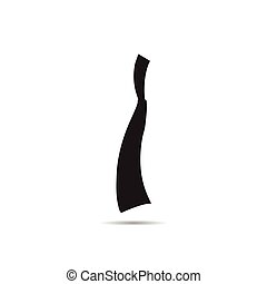 vector of knife on white background