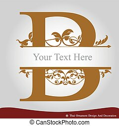 Letter B in the old vintage style - Vector of Letter B in...