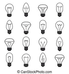 vector of Light bulb icon set