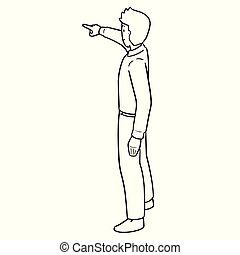vector of man pointing