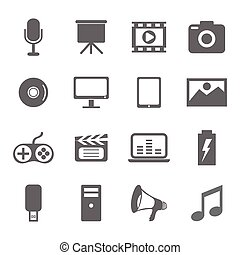 vector of media icons