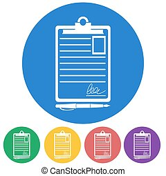 Vector of Medical record - Vector illustration of color...