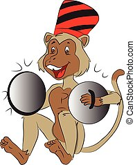 Vector of monkey with cymbals.
