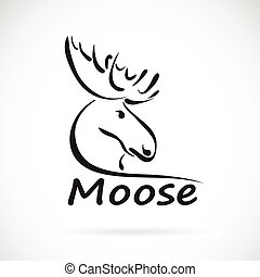 Vector of moose on a white background