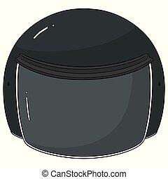 vector of motorcycle helmet