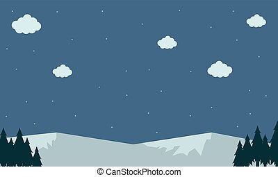 Vector of mountain snow landscape backgrounds