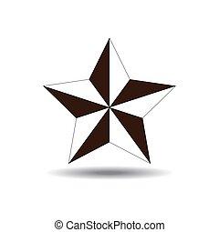 vector of nautical star