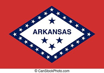 Arkansas State flag. - Vector of nice Arkansas State flag.