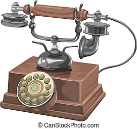 Vector of old telephone.
