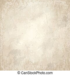 old vintage yellowed paper background - vector of old...